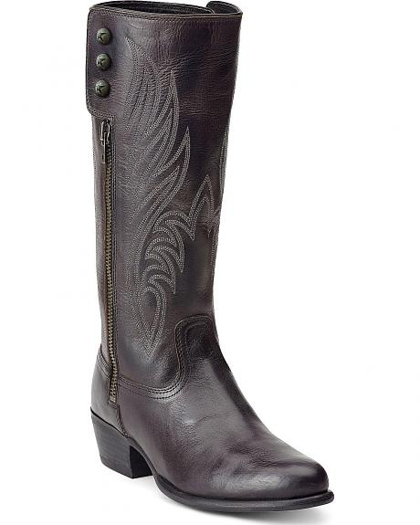 Ariat Uproar Black Side Zip Boots - Round Toe