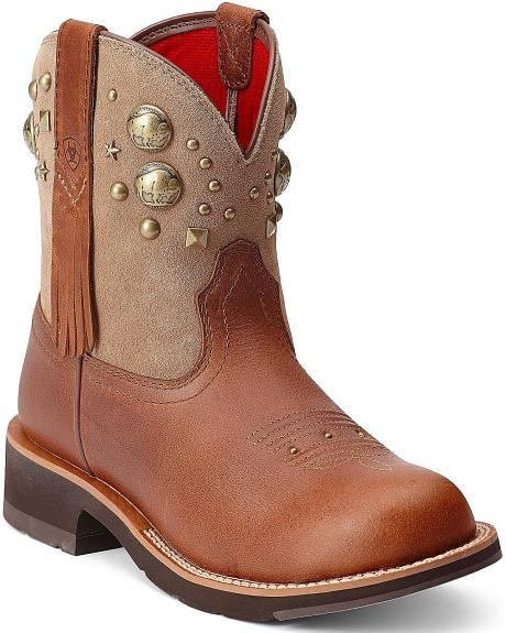 Ariat Fatbaby Buffalo Coin Cowgirl Boots - Round Toe