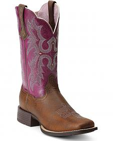 Ariat Tombstone Cowgirl Boots - Square Toe