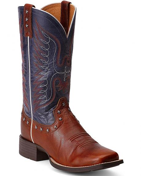 Ariat Honor Eagle Cowgirl Boots - Square Toe