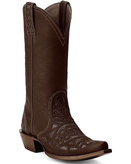 Ariat Meridian Inlay Cowgirl Boots - Snip Toe