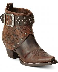 Ariat Defiance Studded Harness Short Cowgirl Boots - Snip Toe