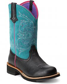 Ariat Turquoise Fatbaby Cowgirl Boots - Round Toe