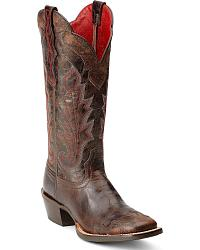 Ariat Cabellera Wingtip Cowgirl Boots - Square Toe at Sheplers