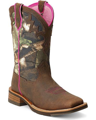 Ariat Unbridled Camo Cowgirl Boots Square Toe Western & Country 10012828