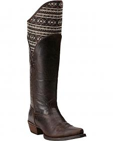 Ariat Caldera Pendleton Tribal Mocha Riding Boots - Extended Calf