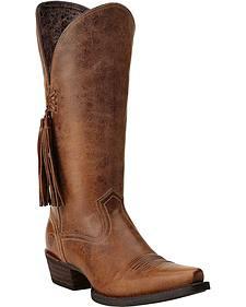 Ariat Loretto Tassel Cowgirl Boots - Snip Toe