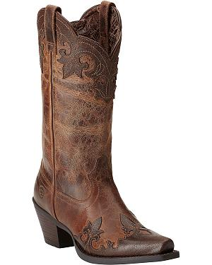 Ariat Delphine Wingtip Cowgirl Boots - Snip Toe