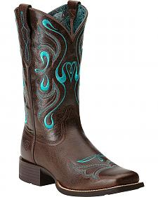Ariat Whimsy Cowgirl Boots - Square Toe