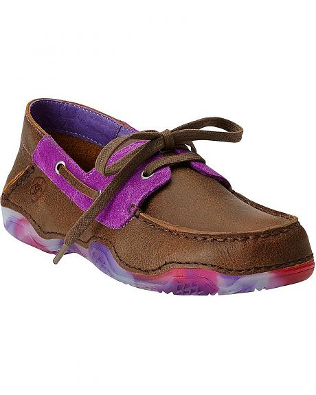 Ariat Caldwell Pink Camo Sole Boat Shoes