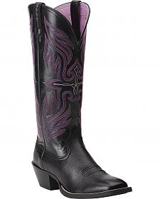 Ariat Round Up Buckaroo Cowgirl Boots - Square Toe