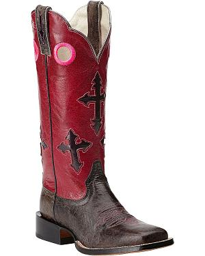 Ariat Ranchero Cross Cowgirl Boots - Square Toe