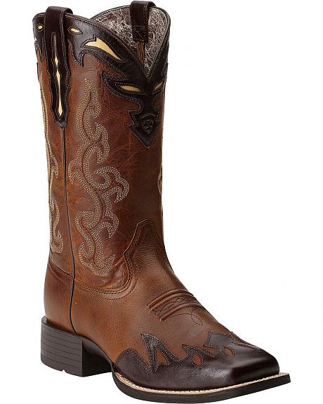Ariat Sidekick Wingtip Cowgirl Boots - Square Toe