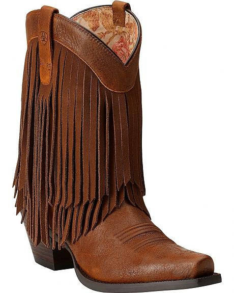 Ariat Gold Rush Fringe Cowgirl Boots - Snip Toe