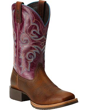 Ariat Hybrid Rancher Cowgirl Boots - Square Toe