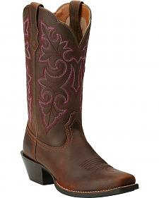 Ariat Round Up Cowgirl Boots - Square Toe