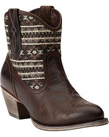 Ariat Meadow Pendleton Tribal Short Boots - Round Toe