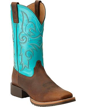 Ariat Womens Hybrid Rancher Cowgirl Boots - Square Toe