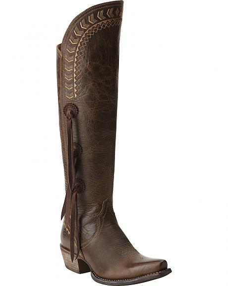 Womens Brown Tall Boots - Boot Hto