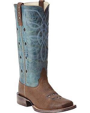 Ariat Ranch Luxe Cowgirl Boots - Square Toe