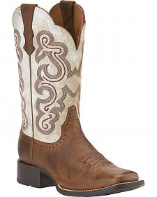 Ariat Women's Quickdraw Cowgirl Boots - Square Toe