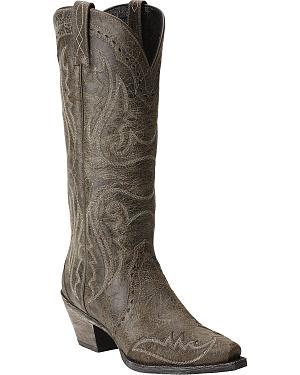 Ariat Heritage Western Wingtip Cowgirl Boots - Snip Toe