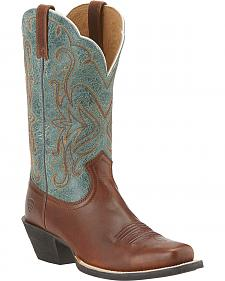 Ariat Legend Vintage Caramel & Piney Woods Boots- Square Toe