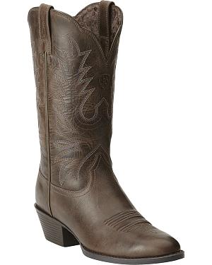 Ariat Heritage Western Chocolate Brown Cowgirl Boots - Round Toe