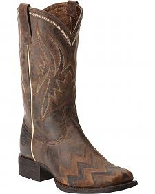 Ariat On Point Sassy Brown Boots - Square Toe