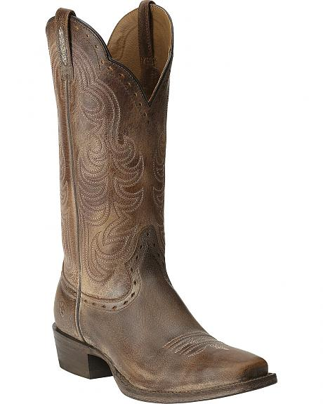 Ariat Antique Brown Good Times Cowgirl Boots - Square Toe