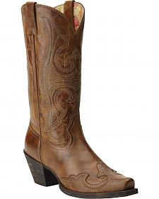 Ariat Round Up Sandstorm Cowgirl Boots - Snip Toe