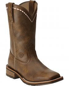 Ariat Women's Unbridled Roper Cowgirl Boots - Wide Square Toe