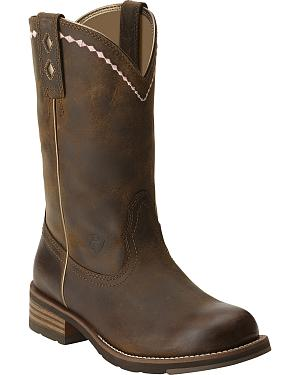 Ariat Unbridled Roper Boots - Round Toe