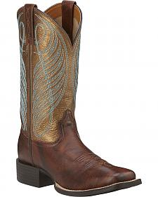 Ariat Women's Round Up Cowgirl Boots -Square Toe