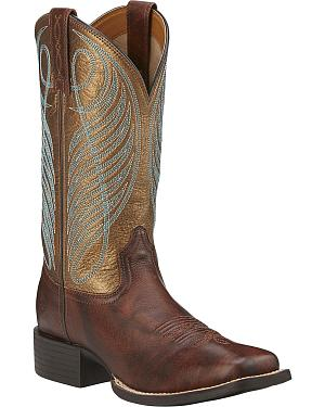 Ariat Womens Round Up Cowgirl Boots -Square Toe