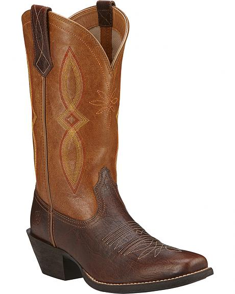 Ariat Round Up II Cowgirl Boots - Square Toe