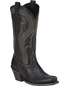 Ariat Lively Black Square Cowgirl Boots - Square Toe