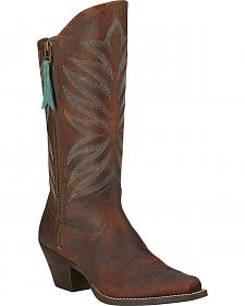 Ariat Fanfare Zippered Cowgirl Boots - Snip Toe