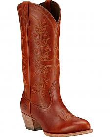 Ariat Desert Holly Cedar Brown Cowgirl Boots - Medium Toe