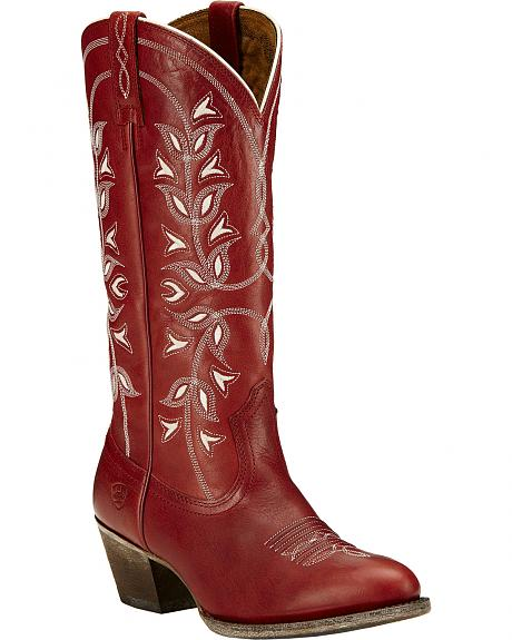 Ariat Desert Holly Rosy Red Cowgirl Boots - Medium Toe