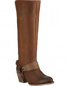 Ariat Sadler Distressed Women's Riding Boots - Round Toe