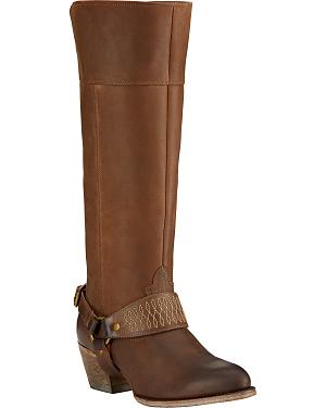 Ariat Sadler Distressed Womens Riding Boots - Round Toe