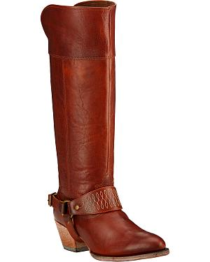 Ariat Sadler Cedar Brown Womens Riding Boots - Round Toe