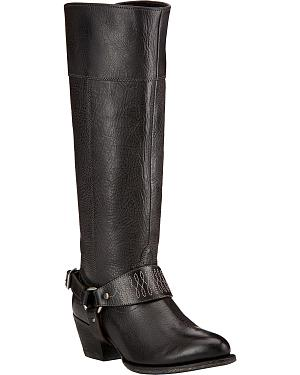Ariat Sadler Black Womens Riding Boots - Round Toe