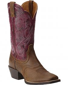 Ariat Women's Mesquite Vintage Bomber Cowgirl Boots - Square Toe
