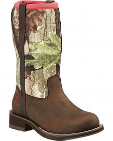 Ariat Women's Fatbaby All-Weather Camo Boots - Round Toe