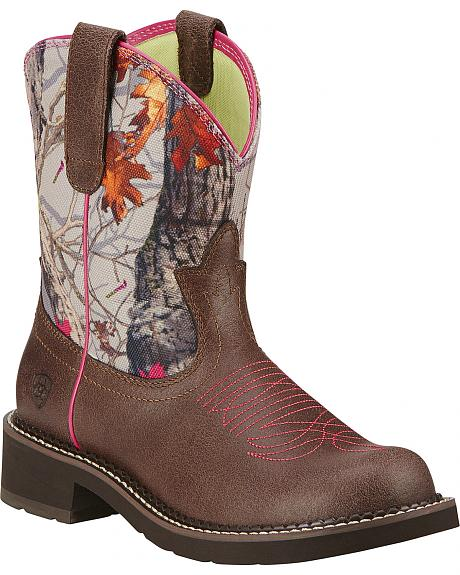 Ariat Fatbaby Heritage Vivid Cowgirl Boots - Round Toe