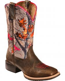 Ariat Hybrid Rancher Cowgirl Boots - Wide Square Toe