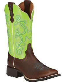 Ariat Quickdraw Cowgirl Boots - Square Toe