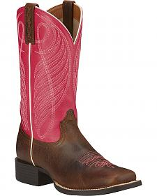 Ariat Round Up Cowgirl Boots - Wide Square Toe